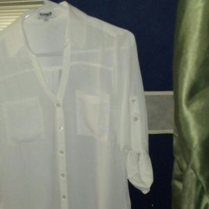 Express Portofino off white Shirt